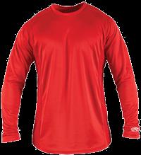 YLSBASE Youth Longsleeve Performance Shirt scarlet