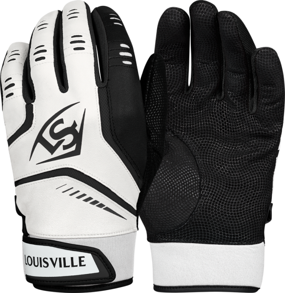 WTL6103 Omaha Adult Batting Glove Pair white/black