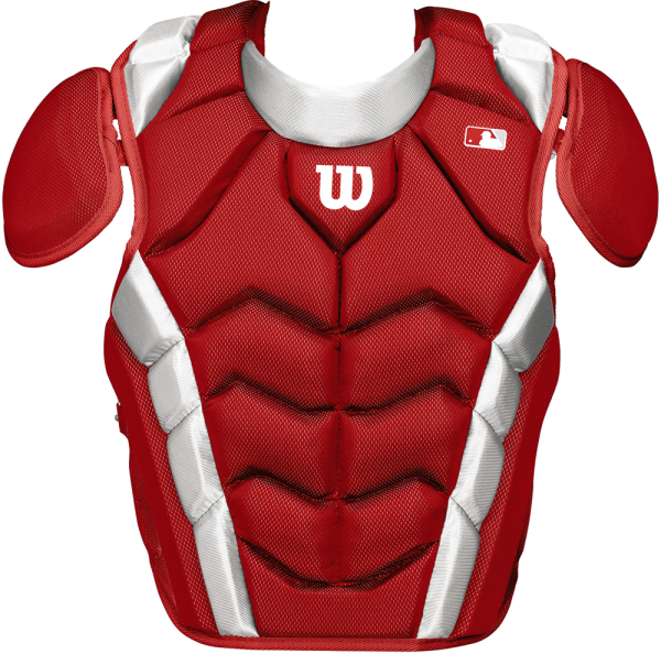 WTA4700 Pro Stock Adult Chestprotector LG scarlet