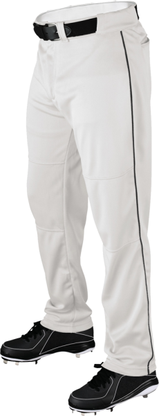 WTA4332 P200 Adult Piped Baggy Pant white/black