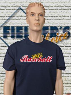 100% Baseball T-Shirt navy