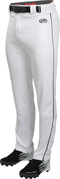 LNCHSRP Adult Launch Piped Baggy Pant white/black