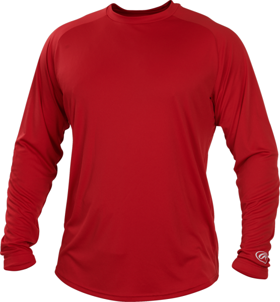 YLSRT Youth Longsleeve Performance Shirt scarlet