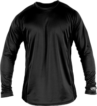 YLSBASE Youth Longsleeve Performance Shirt black