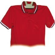 Pro Style Umpire Polo Shirt Scarlet