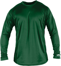 LSBASE Adult Longsleeve Performance Shirt dark green