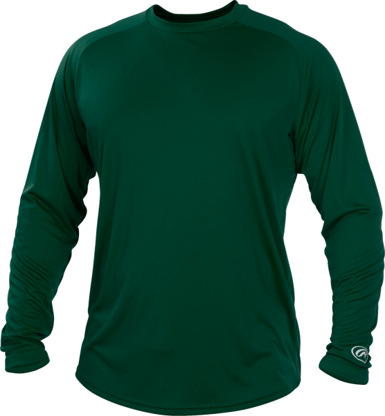 YLSRT Youth Longsleeve Performance Shirt dark green