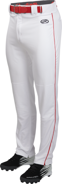 LNCHSRP Adult Launch Piped Baggy Pant white/scarlet