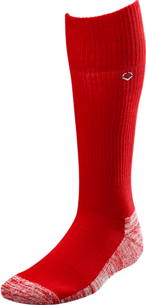 WTV4446 Solid Color Game Socks scarlet