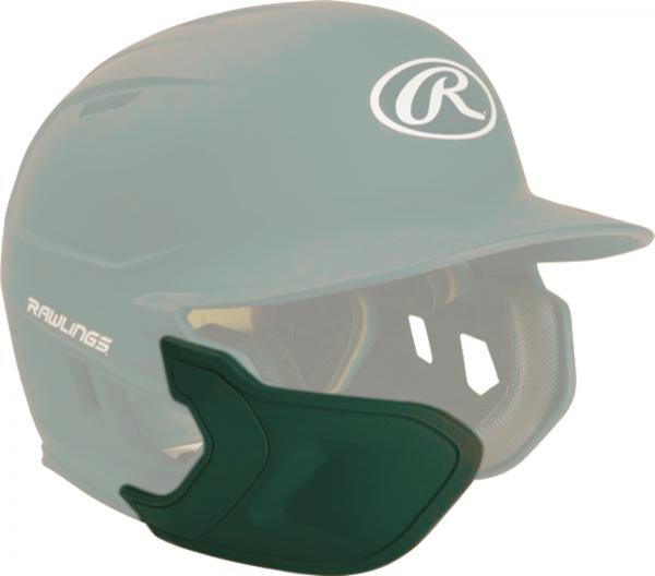 REXT-L Helmet Extension Left Handed Batter dark green