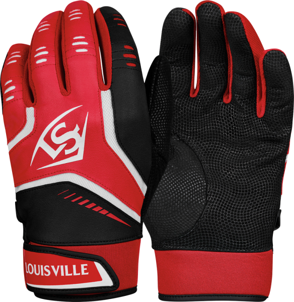 WTL6103 Omaha YOUTH Batting Glove Pair scarlet