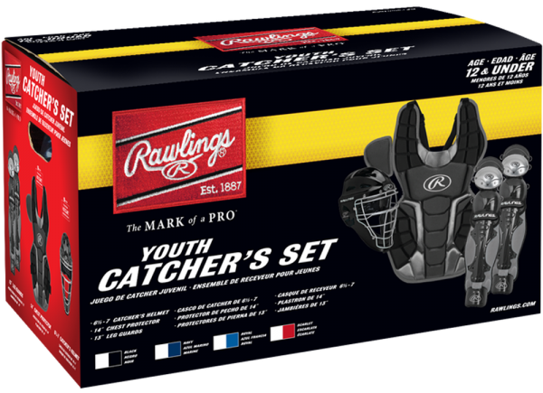 RCSNY Renegade 2 Youth Catcher Set scarlet