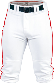 BP150K Piped Knicker Pant white/scarlet
