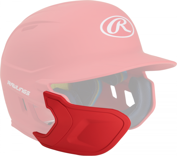REXT-L Helmet Extension Left Handed Batter scarlet