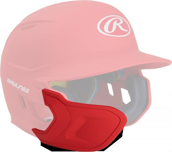 REXT-L Helmet Extension Left Handed Batter scarlet