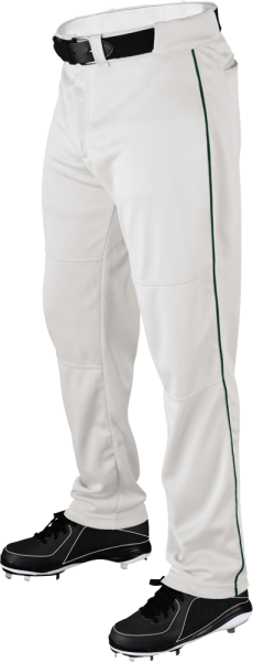 WTA4332 P200 Adult Piped Baggy Pant white/dark green
