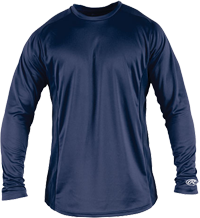 YLSBASE Youth Longsleeve Performance Shirt navy