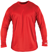 LSBASE Adult Longsleeve Performance Shirt scarlet