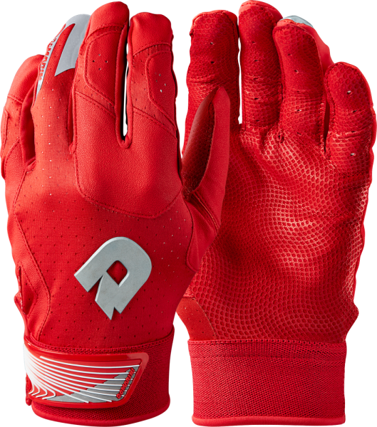 WTD6114 CF Adult Batting Glove Pair scarlet