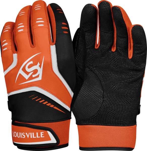 WTL6103 Omaha Adult Batting Glove Pair orange