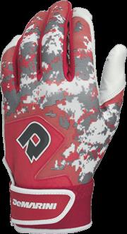 WTD6113 Digi Camo Adult Batting Glove Pair scarlet