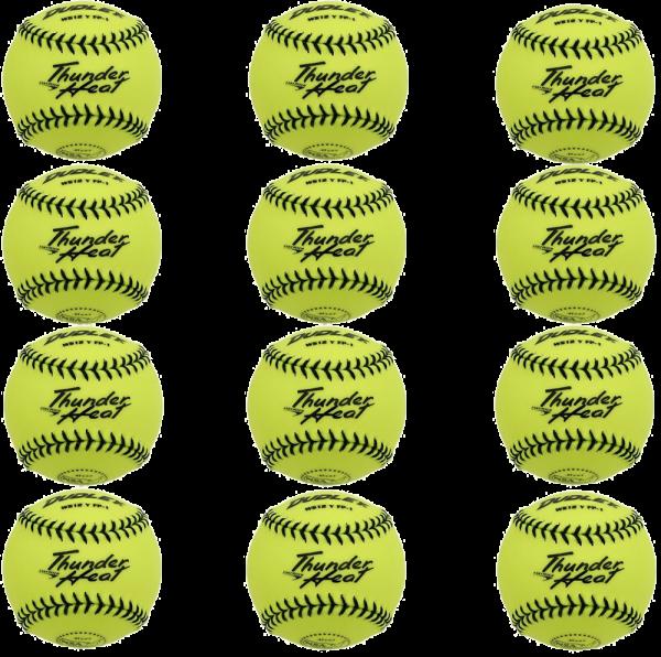 Heat Softball Synthetic Cover Dozen