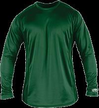 YLSBASE Youth Longsleeve Performance Shirt dark green