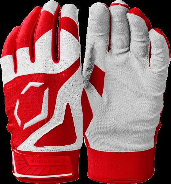 SRZ1 WB5712008 Adult Batting Glove Pair scarlet