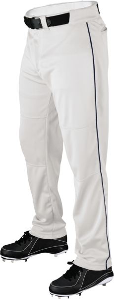 WTA4332 P200 Adult Piped Baggy Pant white/navy
