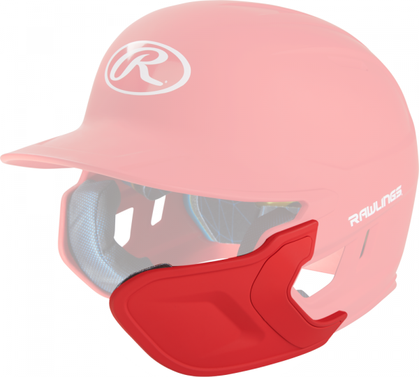 REXT-R Helmet Extension Right Handed Batter scarlet
