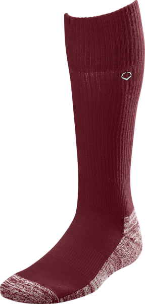 WTV4446 Solid Color Game Socks maroon