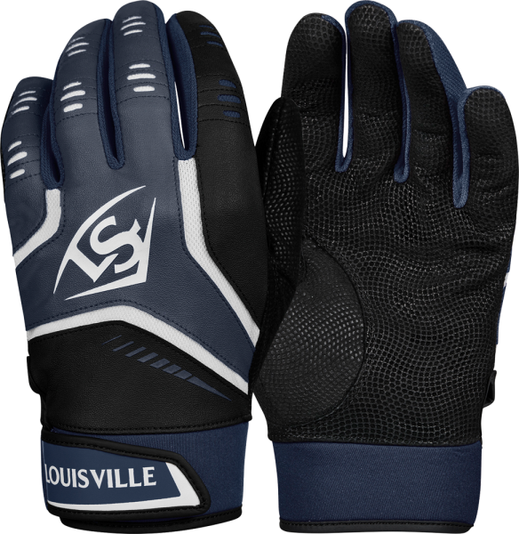 WTL6103 Omaha YOUTH Batting Glove Pair navy